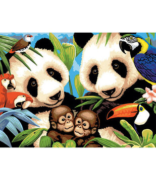 15-1/4''x11-1/4'' Junior Paint By Number Kit-Endangered Animals