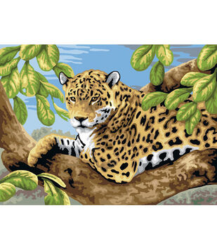 15-1/4''x11-1/4'' Junior Paint By Number Kit-Leopard In Tree