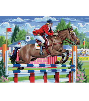 15-1/4''x11-1/4'' Junior Paint By Number Kit-Show Jumping