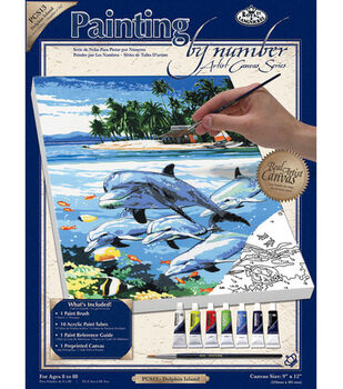Royal Langnickel Paint By Number Kits Dolphin Island