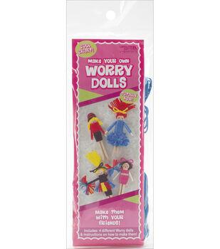 Worry Dolls Kit Makes 4-Cheerleader