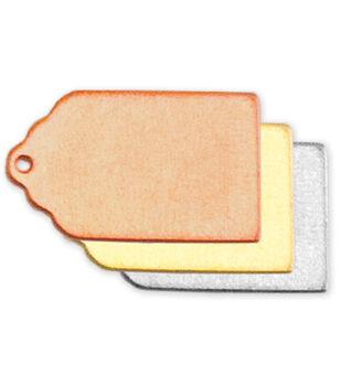 Stamping Blank Tag 2/Pkg-Nickel Silver