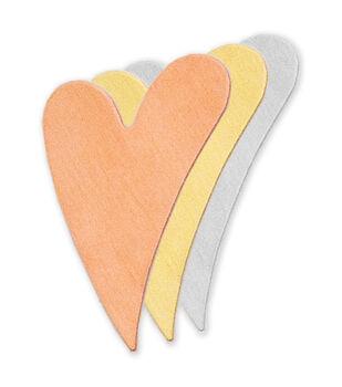 "Stamping Blank Swirly Heart 1-1/4"" 2/Pkg-Copper"