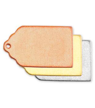 Stamping Blank Tag 2/Pkg-Brass