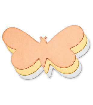"Stamping Blank Butterfly 1-5/16"" 2/Pkg-Brass"