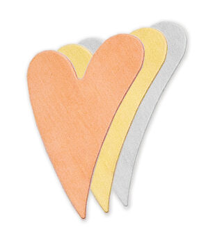 "Stamping Blank Swirly Heart 1-1/4"" 2/Pkg-Nickel Silver"