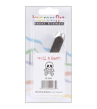 Design Stamps 1/Pkg-Skull & Bones 6mm