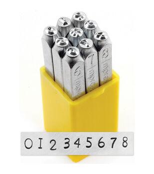 Number Stamp Set 3mm-Newsprint