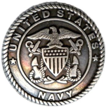 Silver Creek Concho Antique Silver US Navy