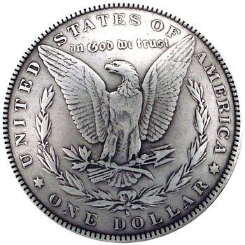 Silver Creek Concho Antique Silver Morgan Dollar Tails