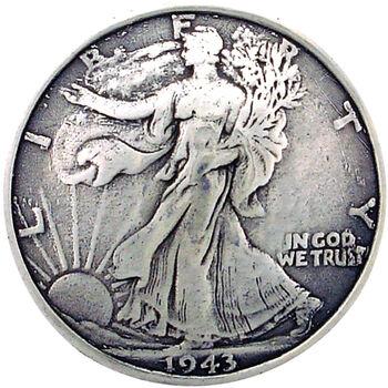 Silver Creek Concho Antique Silver Half Dollar Tails