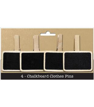 Chalkboard Clothespins 4/Pkg-