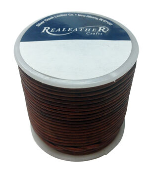 Realeather Crafts Round Leather Lace