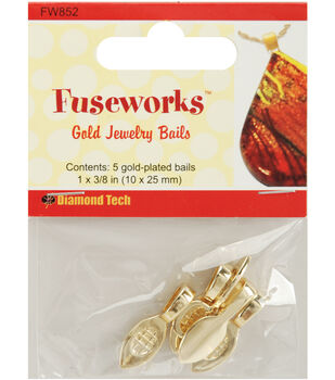 Diamond Tech Crafts Fuseworks Findings-Large Bail 5PK Many Colors