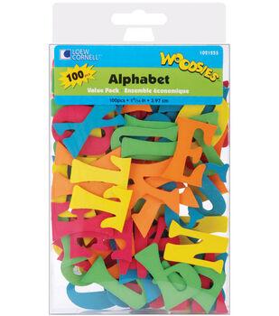 Loew-Cornell 1-9/16'' Wood Alphabet Value Pack-100PK