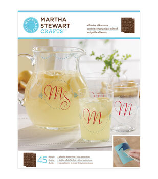 Martha Stewart Crafts Glass Silkscreen Elegant Alphabet