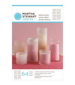 Martha Stewart Crafts Glass Adhesive Stencil Fancy Alphabet