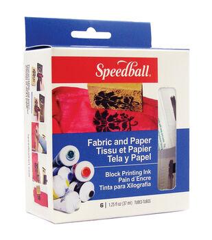 Speedball Fabric & Paper Block Printing Ink Set-6 Colors