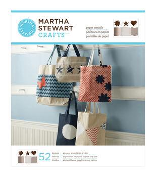 "Martha Stewart Large Paper Stencil 9""X7-1/2"" 41 Sheets/Pkg-Pattern & Shape 52 Designs"