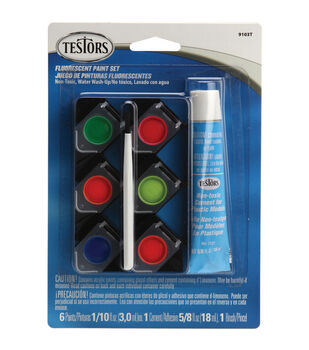 Testors Acrylic Paint Pot Set-Fluorescent