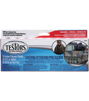 Testors Enamel Paint Set-Military
