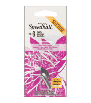 Speedball Lino Cutter Blades 2/Pkg-No.6 Knife