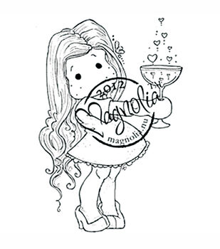 With Love Cling Stamp-Tilda With Love Potion