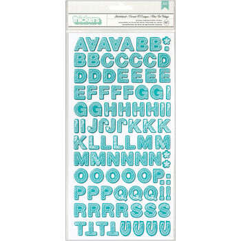 Studio Calico Snippets Thickers Alpha Stickers Sketchbook Aqua