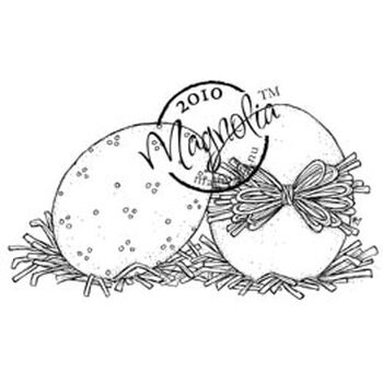 Magnolia Hoppy Easter Cling Stamp Two Eggs