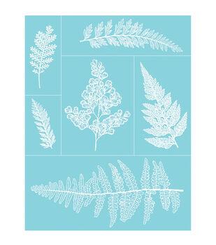 """Martha Stewart Crafts Glass Silkscreen 8.5""""X11"""" Ferns"""