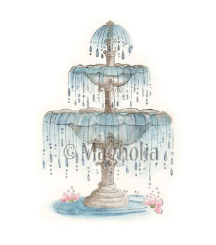 Magnolia Special Moments Cling Rubber Stamp Royal Rippling Fountain