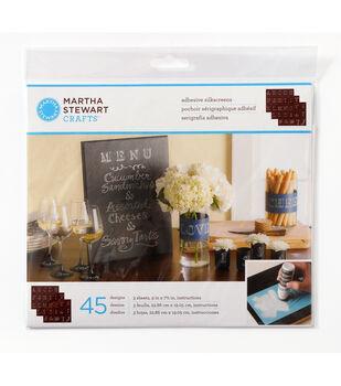 Martha Stewart Crafts ® Chalkboard Silkscreens - Bodoni Alphabet