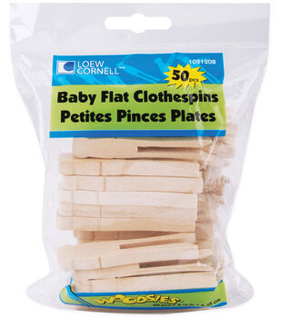 Loew-Cornell 2-1/2'' Baby Flat Clothes Pins-50PK