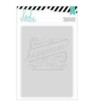 "Wanderlust Embossing Folders 5""X7""-Happiness"