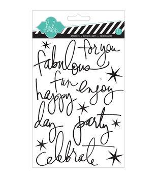 Buzz Words Epoxy Stickers-Celebrate