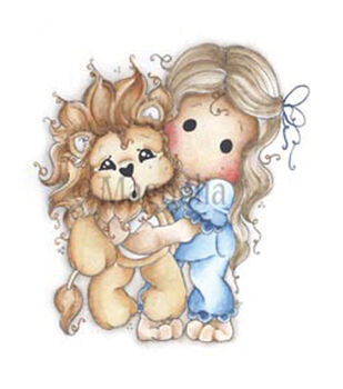 Magnolia Animal Of The Year Tilda With Leo The Lion Cling Stamp