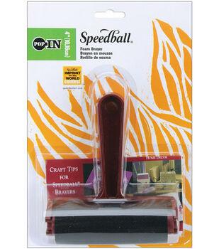 Speedball Pop-In Brayer 4''-Foam
