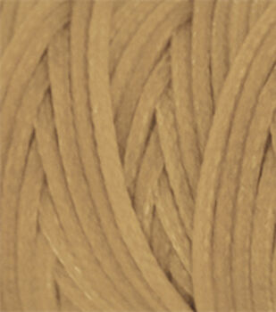 Waxed Braided Cord 25 Yard Spool-Beige