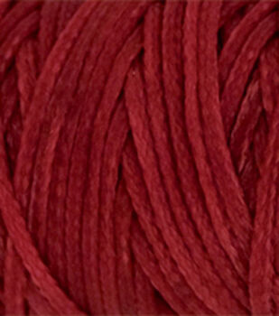 Waxed Braided Cord 25 Yard Spool-Red