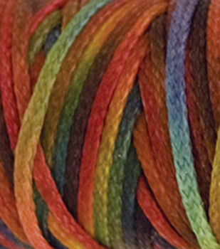 Waxed Metallic Look Braided Cord 25 Yards/Spool-Multi