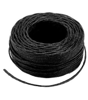Waxed Thread 25 Yards-Black