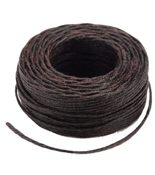 Waxed Thread 25 Yards-Brown