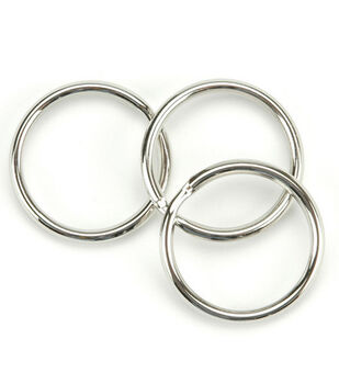 Split Key Ring 1-1/4'' 10/Pkg-Nickel