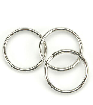 Split Key Ring 1'' 10/Pkg-Nickel