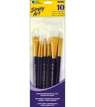 Loew-Cornell Simply Art Nylon Brush Set White