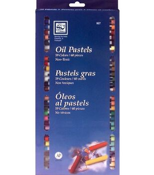 Oil Pastel Set-60 Pieces, 59 Colors