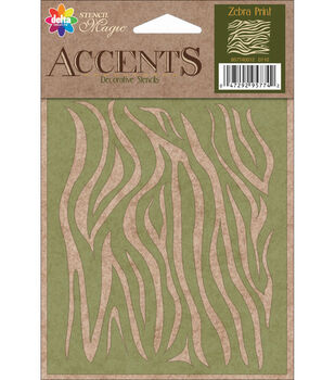 Delta Creative Decorative Stencils Zebra Print
