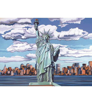 "Paint By Number Kit 12""X16""-Statue Of Liberty"