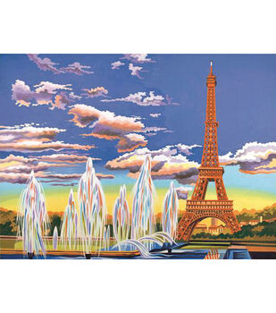 "Paint By Number Kit 12""X16""-Eiffel Tower"