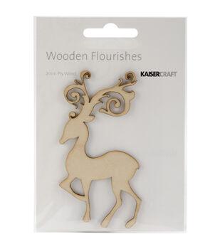 Wood Flourishes-Fancy Deer